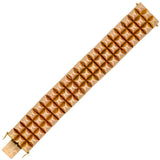 Retro French 18kt Gold Pyramidal Link Bracelet 104.7g