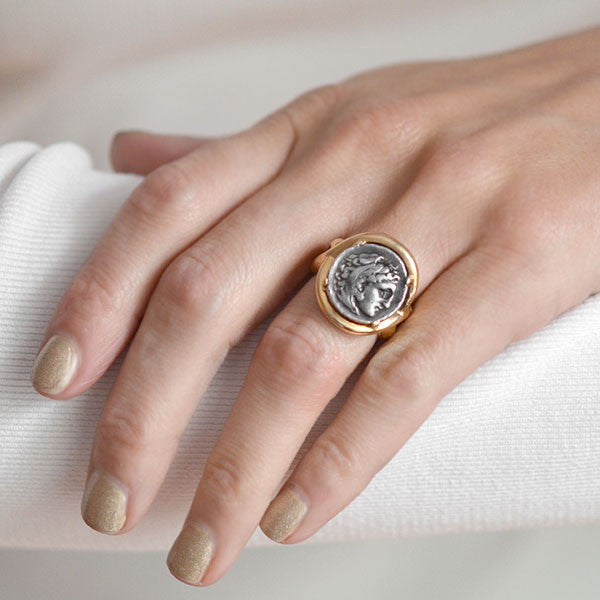 ancient roman coin rings