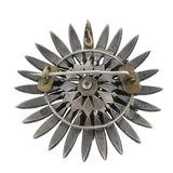 Early Victorian Diamond Trembler Flower Pin/Pendant