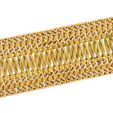 Retro 14kt Yellow & Rose Gold Wide Woven Chain Bracelet