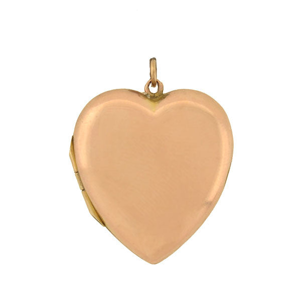 Victorian English 9kt Rose Gold Heart Locket