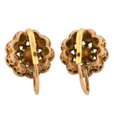 Victorian 18kt Rose Cut Diamond Cluster Earrings 1.50ctw