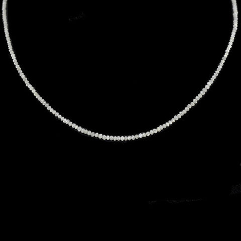 Estate Natural Diamond Necklace w/ Diamond Clasp