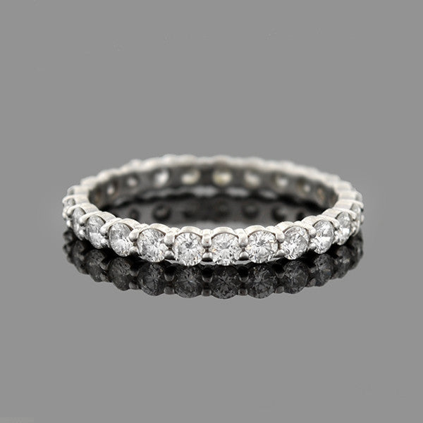 Estate 14kt White Gold Diamond Eternity Band 0.70ctw