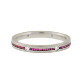 Estate 18kt Pink Sapphire Diamond Eternity Band