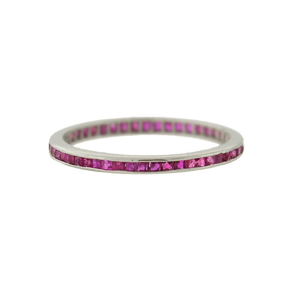 Art Deco 14kt Ruby Eternity Band
