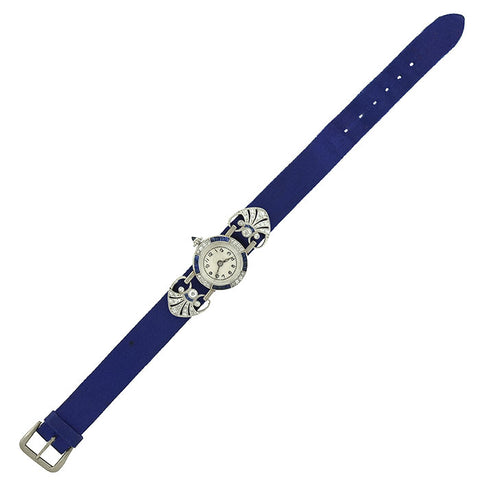 Edwardian Platinum, Diamond & Sapphire Dress Watch