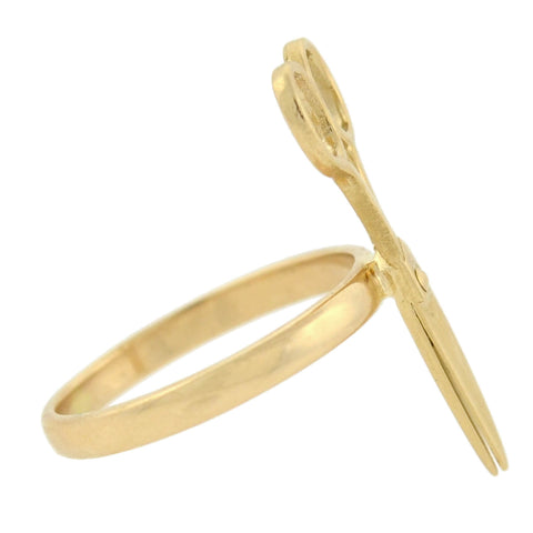 Estate 14kt Yellow Gold Scissors Ring