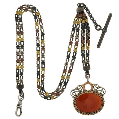 Victorian Sterling Gilt Bohemian Garnet Encrusted Locket