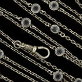 Art Deco Long Crystal Muff Chain Necklace 56