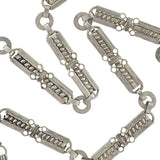 Victorian French 900 Silver Book Chain Necklace 23