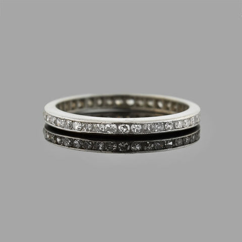 Estate Platinum Diamond Eternity Band 0.50ctw