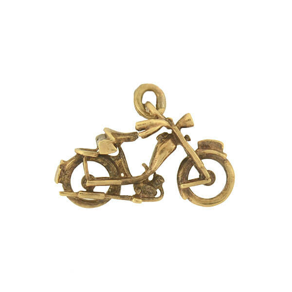 Vintage 14kt Gold Motor Bicycle Charm