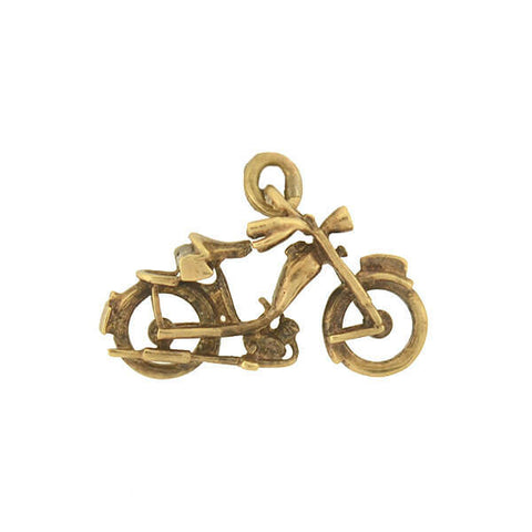 Vintage 14kt Gold Motorized Bicycle Charm