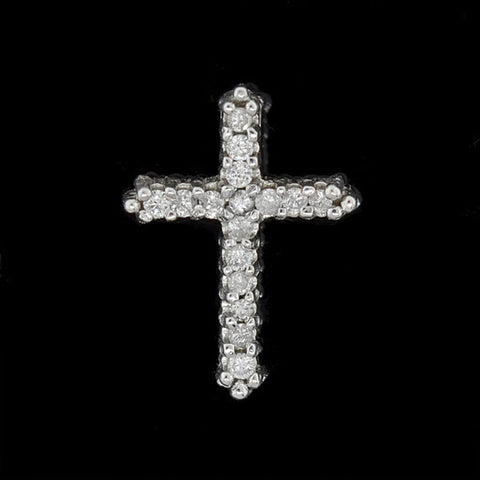 Estate 14kt Diamond Cross Pendant