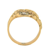 Late Victorian 14kt & Diamond Cigar Band Snake Ring