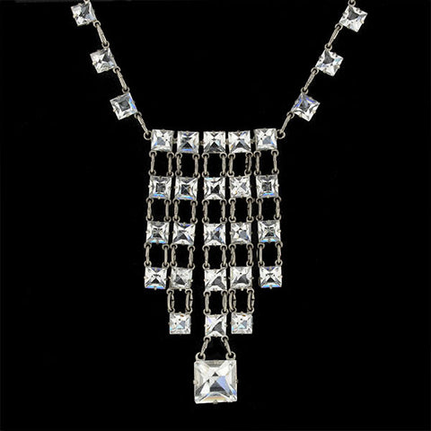 Art Deco 14kt Moonstone Drop Necklace