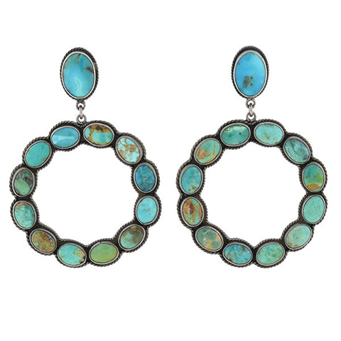 FEDERICO JIMENEZ American Indian Turquoise Earrings