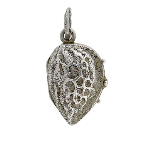 Late Victorian Sterling Silver Almond Locket