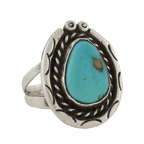 American Indian Vintage Sterling & Turquoise Ring