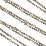 Late Victorian Long Silver Ball Link Chain 60