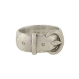 Victorian English Sterling Silver Buckle Ring