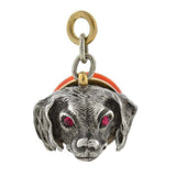 Victorian Sterling & Gold Carnelian Figural Dog Fob