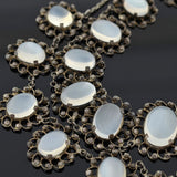 Art Nouveau Sterling Silver Moonstone Necklace