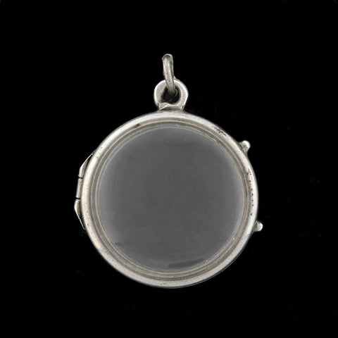 Victorian Sterling Silver Reversible Double-Sided Locket