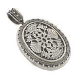 Victorian Large Sterling Silver Applied Overlay Locket
