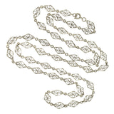 Victorian Sterling Silver Fancy Filigree Chain 29