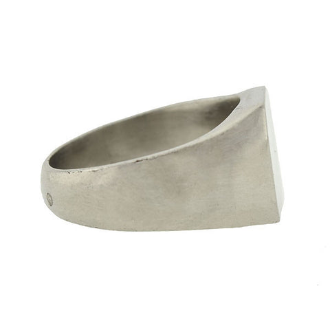 Art Deco French Sterling Smooth Signet Ring