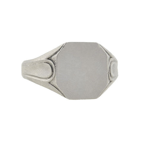 Art Deco French Silver Signet Ring