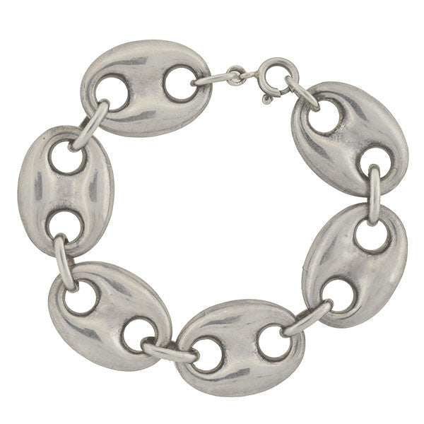 "Vintage Sterling ""Gucci Style"" Big Anchor Link Bracelet"