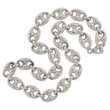 Vintage Sterling Silver Gucci Style Link Chain Necklace