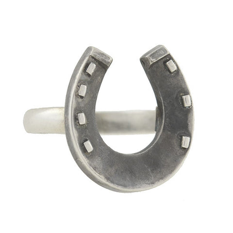 Victorian Sterling Silver Lucky Horseshoe Ring