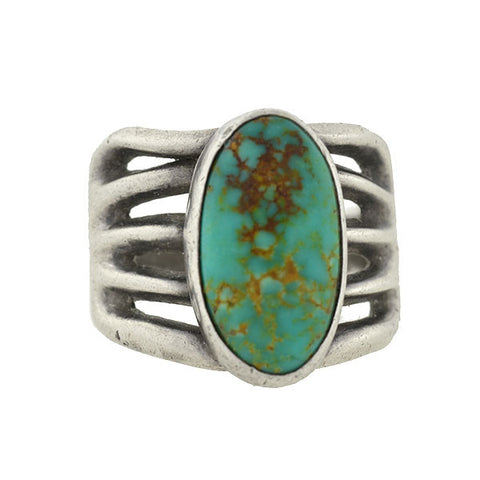 Vintage American Indian Sterling Turquoise Ring