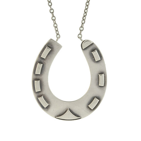 Victorian Sterling Silver Good Luck Horseshoe Necklace