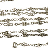 Art Nouveau Ornate Open Wirework Sterling Silver Chain 33.5