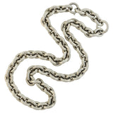 Victorian Sterling Silver Heavy Link Chain Necklace