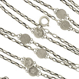 Victorian Sterling Silver Roman Coin Chain Necklace 56