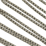 Victorian Long Sterling Silver Articulated Snake Chain 59
