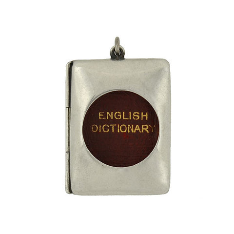 Victorian Miniature English Dictionary Sterling Locket