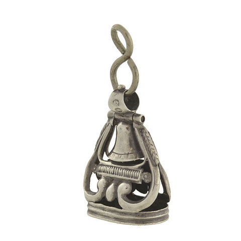 "Victorian Sterling Silver ""Swinging Bell"" Fob"