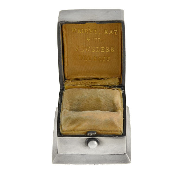 Wright Kay Co Jewelers Art Deco Sterling Ring Box A Brandt Son