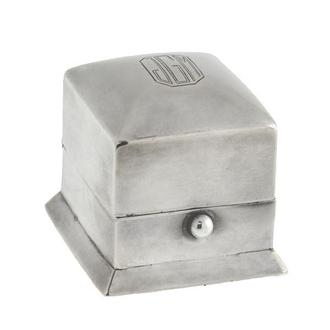 Estate Platinum Hinged Moveable Puzzle Ring