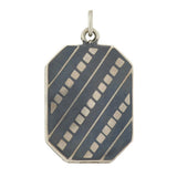 Victorian Silver Niello Stripes & Squares Locket