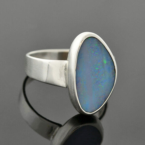 Estate Sterling Silver Opal Ring