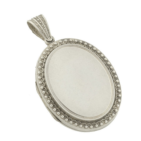 Victorian Sterling Embossed Double-Sided Locket