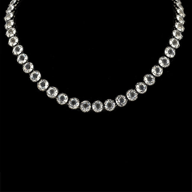 Edwardian Sterling & French Paste Riviera Necklace